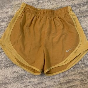 Unique Gold DriFit Nike Shorts